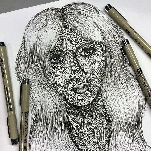 Zentangle portrait.