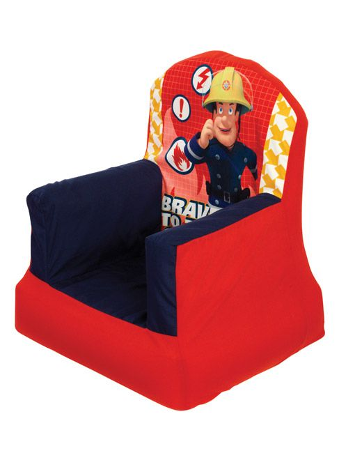 Fireman Sam Cosy Chair Soft cosy Cover - The Chair Inflates in minutes:  This Fireman Sam Cosy Chair is the perfect seating solution for your little one. It comprises of an inflatable inner and soft cosy cover which can be machine washed to be kept clean. This item is ideal for your child to use whilst watching Fireman Sam on television, reading a book or as a addition to a Fireman Sam themed bedroom. Matching items are also available from our website.
