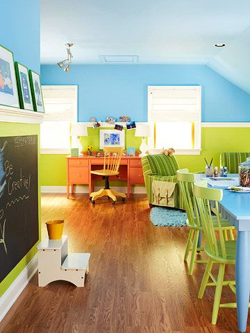 A Colorful Playroom Makeover. Playroom Color SchemePlayroom Paint ...