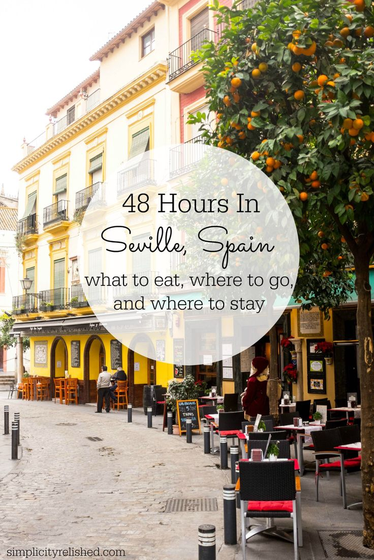 Going to Seville, Spain? Here's what to do, see, eat and drink. Plus tips on when to visit and where to stay!   48 hours in Seville Spain- a quick guide #spain #seville #travel