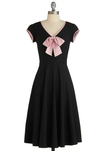All That and Demure Dress in Midnight, #ModCloth