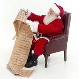 Santa Checking His List Royalty Free Stock Photo
