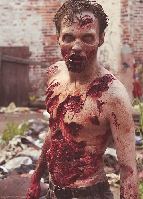 This is a big Special FX Makeup & full body prosthetics effect, and is way awesome / Pair with professional 'risen dead' FX zombie contacts for the ultimate effect => http://www.pinterest.com/pin/350717889706006098/
