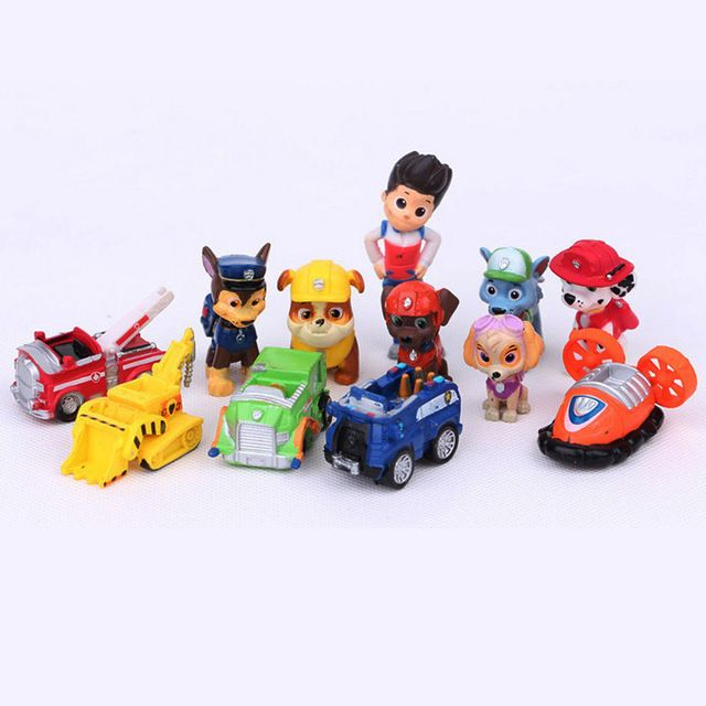 12 PCS Crianças Brinquedos Ryder Cães Figuras de Ação Brinquedo Patrulla Canina…