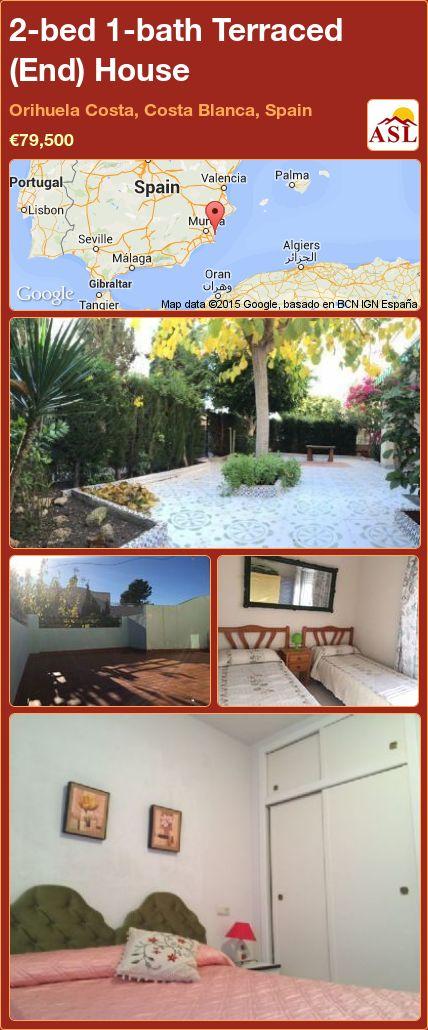 2-bed 1-bath Terraced (End) House in Orihuela Costa, Costa Blanca, Spain ►€79,500 #PropertyForSaleInSpain