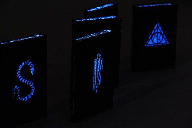 "The best part: THE COVERS GLOW IN THE DARK. | This Glow-In-The-Dark ""Harry Potter"" Re-Design Will Blow Your Mind"