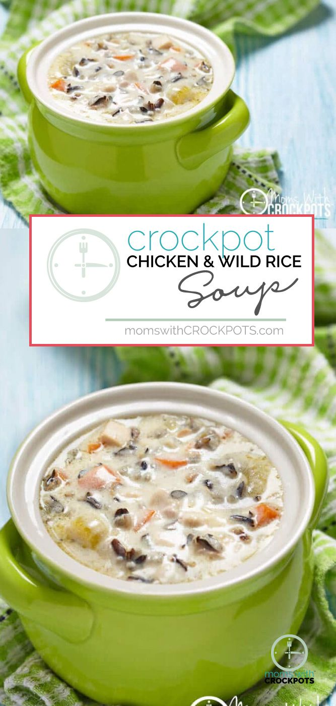 Looking for a yummy slow cooker chicken soup? You have to try this Crockpot Chicken Wild Rice Soup Recipe #recipes #crockpot