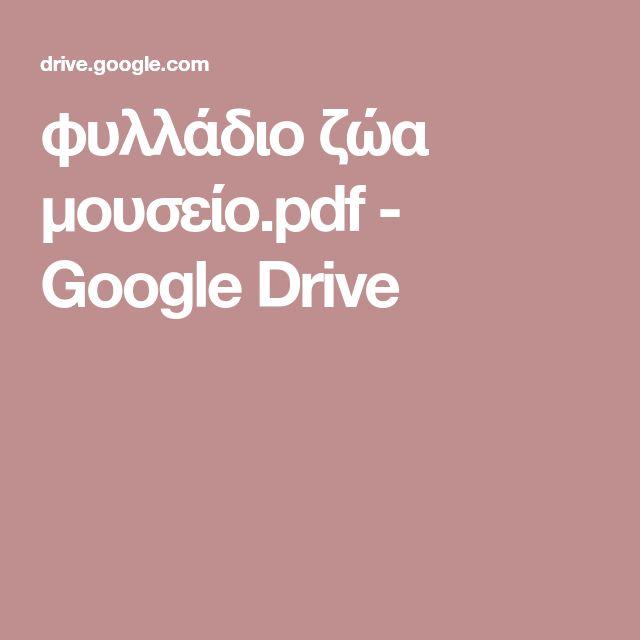 φυλλάδιο ζώα μουσείο.pdf - Google Drive