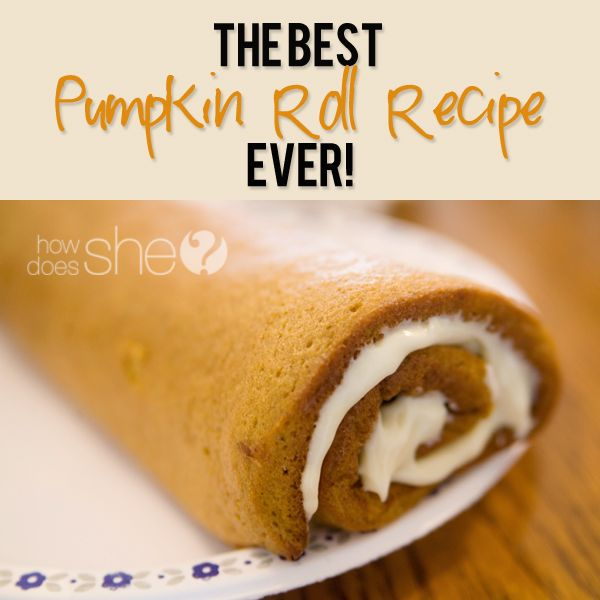 The BEST Pumpkin Roll Recipe EVER! Cannot wait to start making these again this fall! A family favorite!