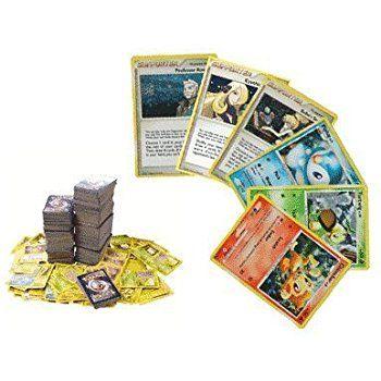 Amazon.com: Pokemon 100 Card Lot with Foils, Rares and 2 Break Rares No Duplication By Golden Groundhog: Toys & Games