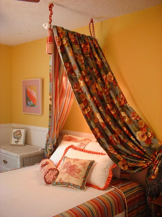17 best ideas about curtain over bed on pinterest bed for Drape canopy over bed