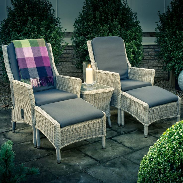 Buy Grafton Garden Recliner Chair Set for Two | Burford Garden Company