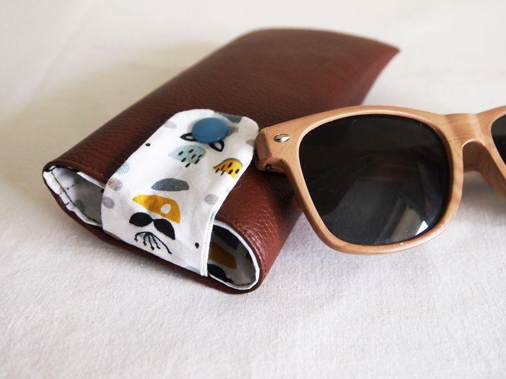 Etui à lunettes adulte ou enfant, mixte, similicuir et coton : Etuis, mini sacs par la-fee-curiosites