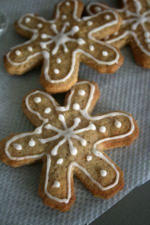 Flocons de neige à la noisette et gingembre