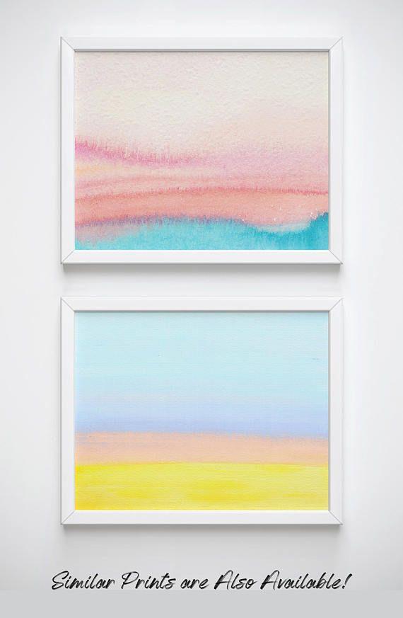 9895a047d6a Printable Watercolor Sunset Art