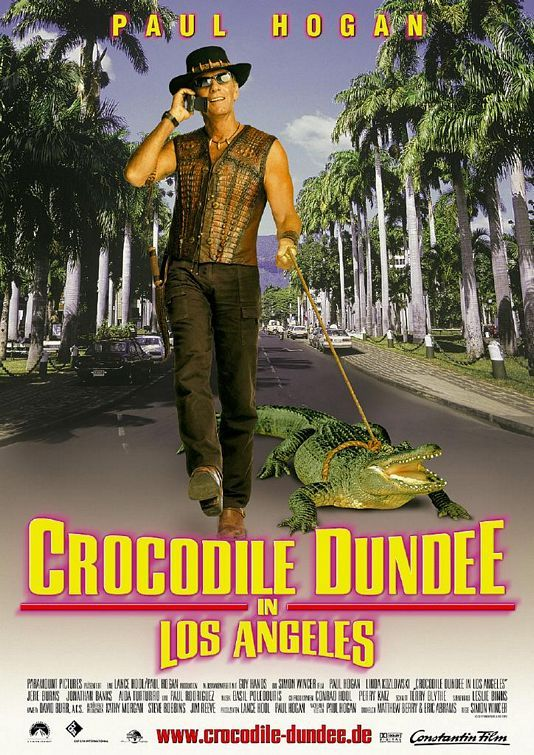 Crocodile Dundee in Los Angeles , starring Paul Hogan, Linda Kozlowski, Jere Burns, Jonathan Banks. Mick Dundee travels to the city of smog and stars with his young son in tow. #Adventure #Comedy