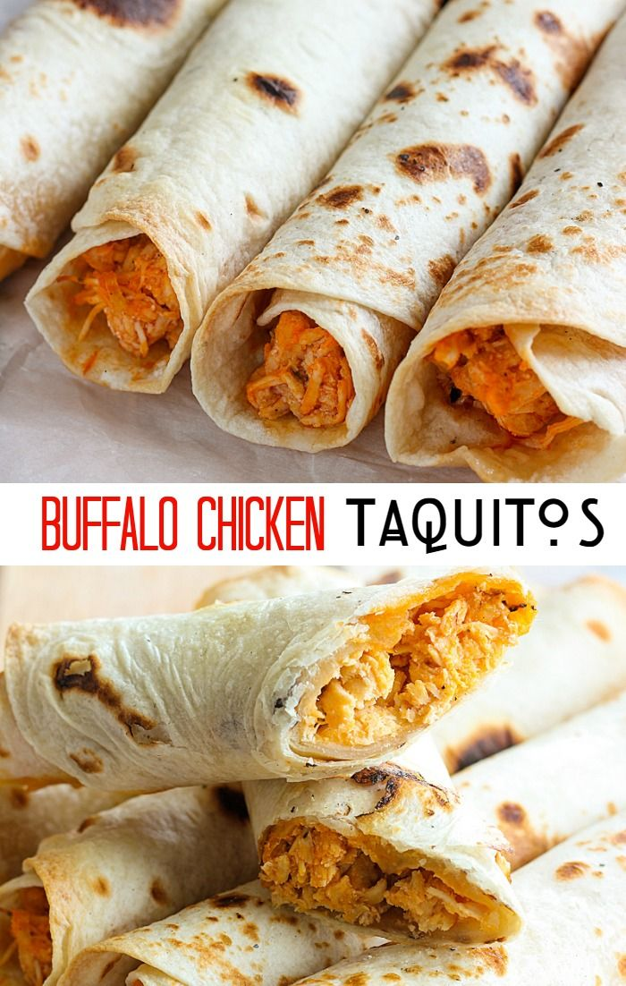These Buffalo Chicken Taquitos are the perfect appetizer or meal for Game Day. You can easily adjust the amounts to make a little or a lot! | mandysrecipeboxblog.comm