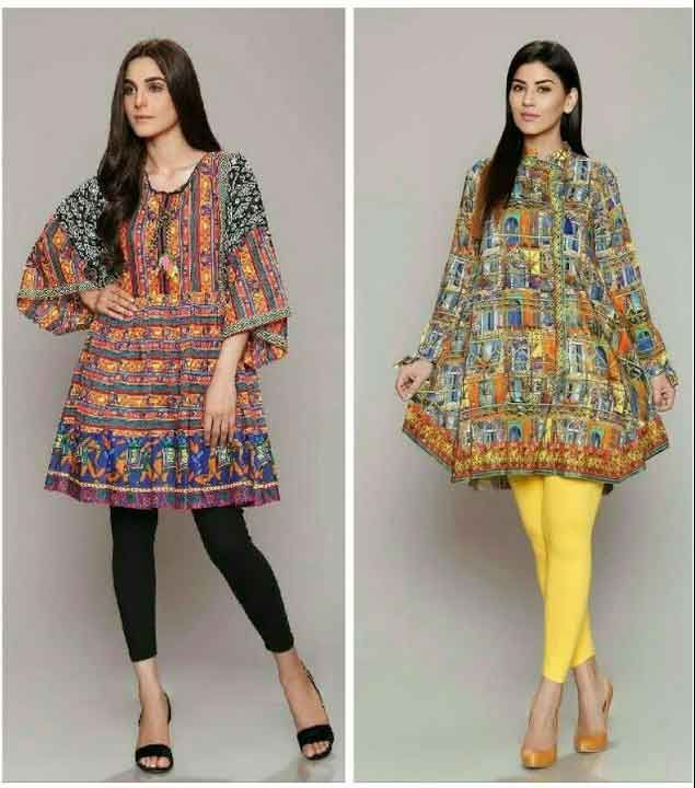 Pakistani Lawn Dresses Stitching Designs For Girls In 2019