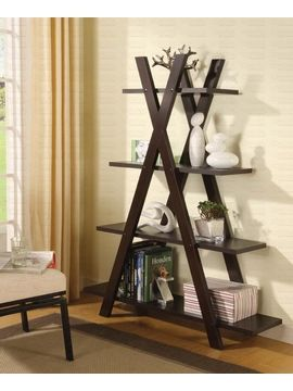 """BOOK SHELF,CAPPUCCINO 47-1/4""""Lx14-1/4""""Wx59""""H $119.95 www.affordableportables.net"""