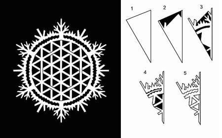 Вырезаем снежинки.: Posts, Paper Crafts