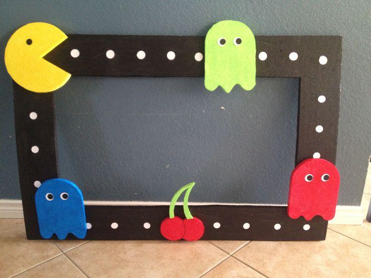 Pac-Man Styrofoam Frame $35.00 email me eva.pedraza@gmail.com