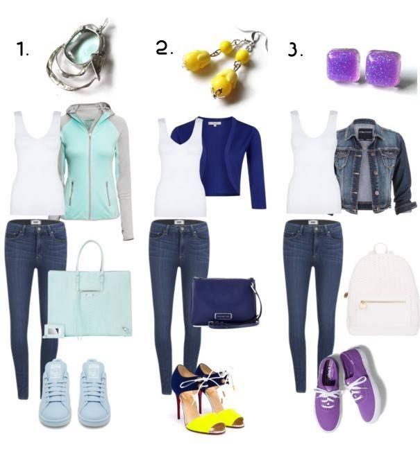 Biele tielko a jednoduché džínsy máme v šatníku asi všetky. Skúste ich oživiť napríklad takto, našimi šperkami z www.sperkysan.sk. Ktorá kombinácia sa vám najviac pozdáva?