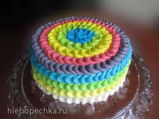 Эффект лепестка (украшение торта кремом)