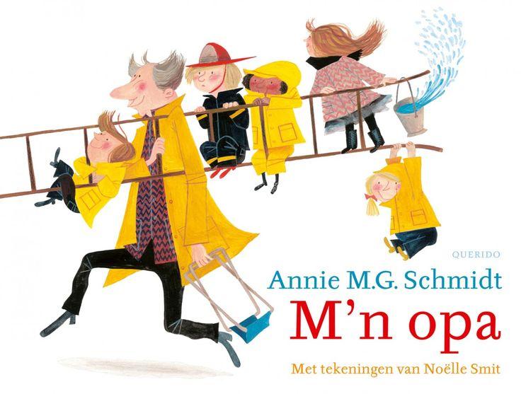 M'n opa, m'n opa, m'n opa,in heel Europa was er niemand zoals hij...Annie M.G. Schmidt bezingt de aardigste opa van heel Europa, en Noëlle Smit maakt er tekeningen bij waar het levensplezier van af spat. Samen naar het strand, sleetje rijden of leeuwentemmer spelen, opa maakt overal een feest van!