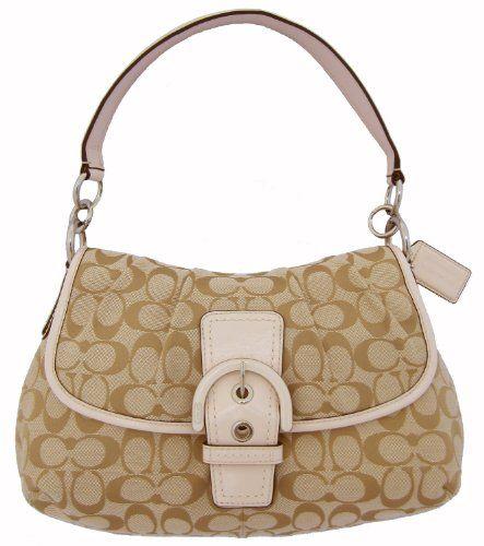 Coach Soho Signature Flap Handbag -Purse Khaki « Clothing Impulse
