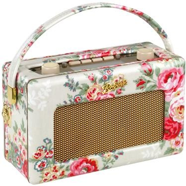 Cath Kidston candy Flowers Roberts Radio - I need this in my kitchen!