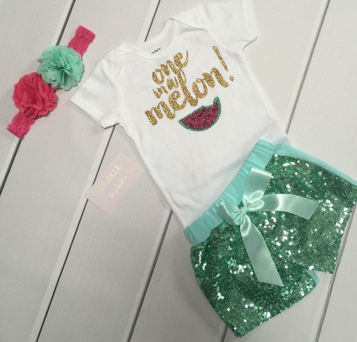 Baby Girl First Birthday Outfit/ Summer 1st Birthday Outfit/ Watermelon Birthday outfit / Watermelon shorts baby girls by BespokedCo on Etsy https://www.etsy.com/listing/278588146/baby-girl-first-birthday-outfit-summer