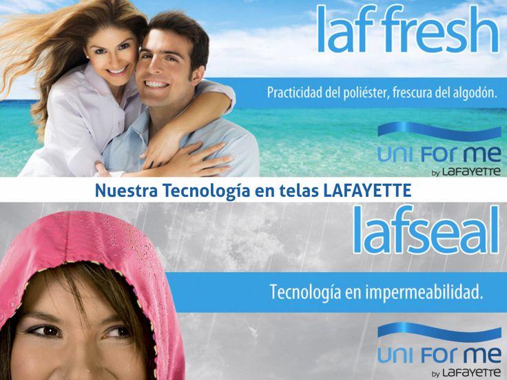 Nos gustan los retos, por ello contamos con la mejor tecnología en telas para tus uniformes #UniformesparaTodo #Colombia #Empresas #Telas #Lafayette  www.uniformesparatodo.com