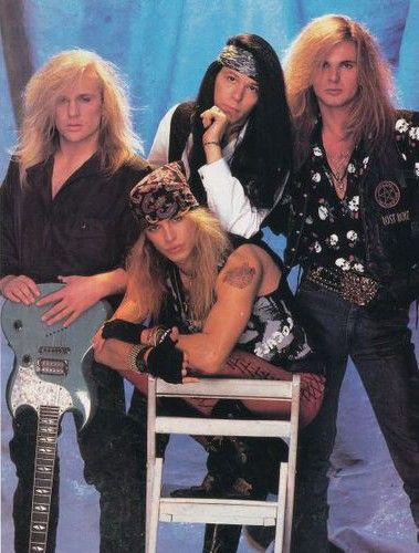 Poison.. my first rockstar crush was in this band.. 10 yrs. old, just discovering that boys aren't icky, and I see Poison on MTV..