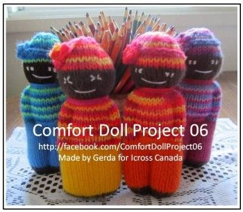 pattern for knitted comfort dolls