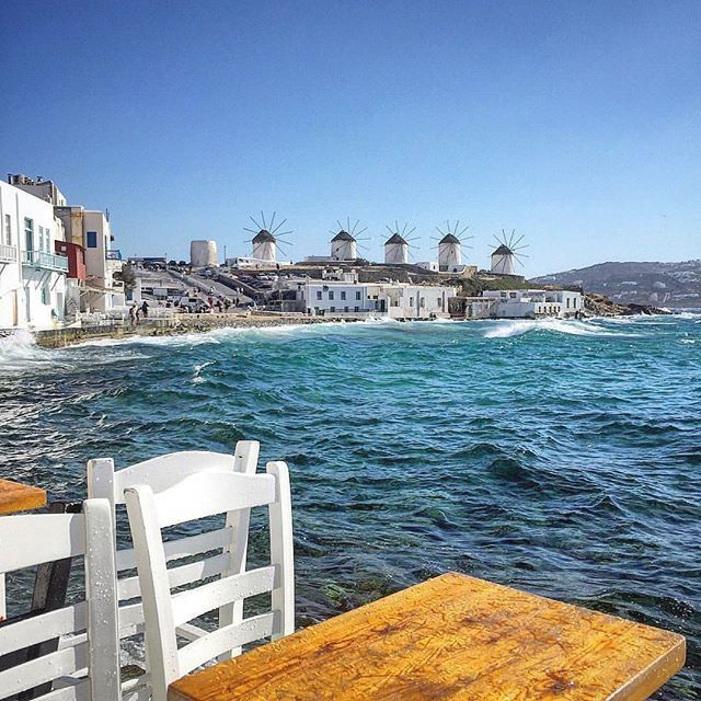 Mykonos. The famous traditional windmills of Mykonos island. I will do back one day!!