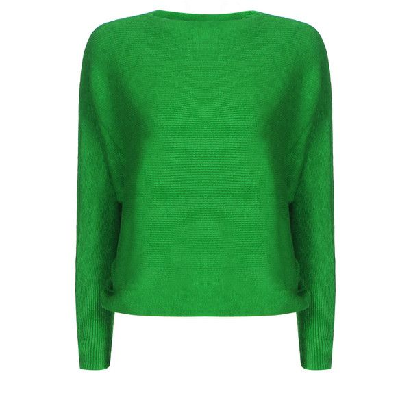 Yoins Green Sexy Pullover Bat Sleeves Loose Jumper ($25) ❤ liked on Polyvore featuring tops, sweaters, green, loose pullover, sexy tops, off one shoulder tops, sexy green tops and pullover sweaters