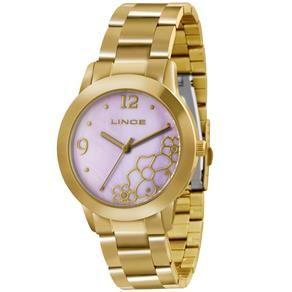 Relógio Feminino Analógico Lince LRG4285L L2KX - Dourado