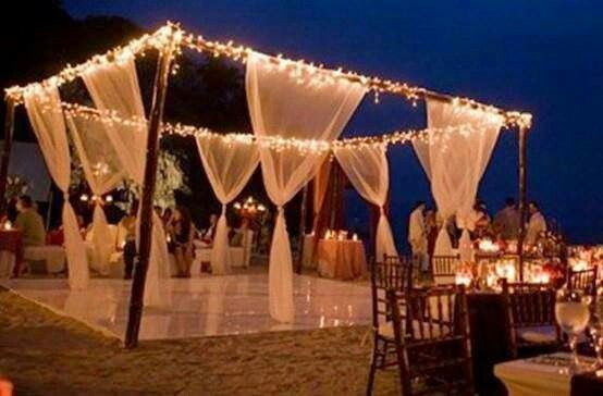 Pista de dança perfeita para  um casamento ao ar livre