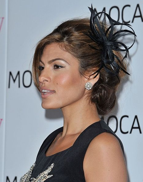 Eva Mendes ribbons and feathers