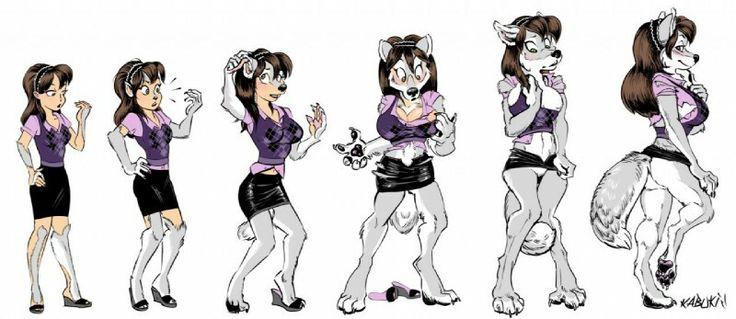 Female wolf transformation