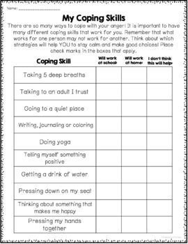 Stress Management Anger Management Worksheets With