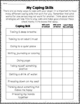 Stress Management Anger Management Worksheets With