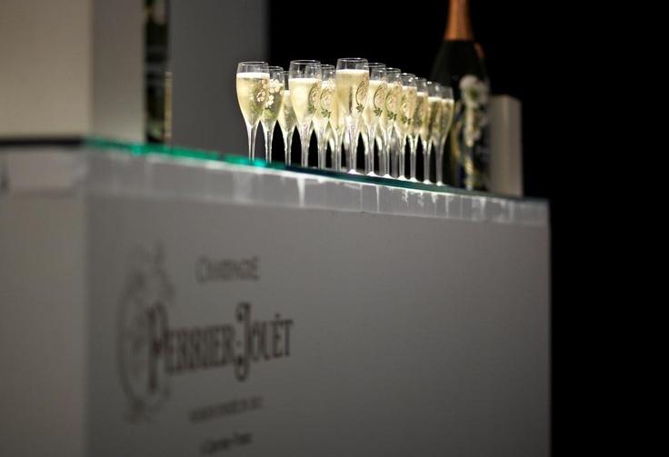 Belle Epoque flutes at Design Miami/ Drink responsibly. #designmiami #art #champagne