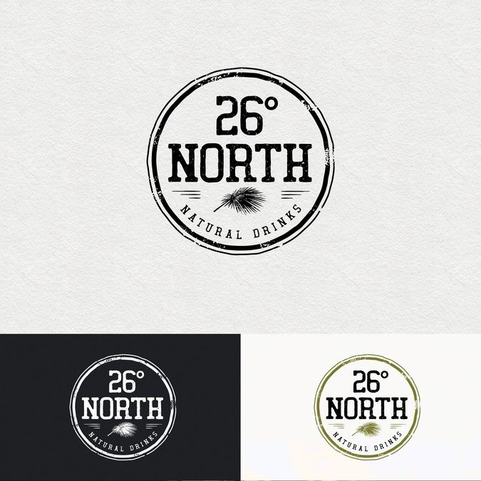 Authentic Brand Logo for 26掳 North (Turmeric Tonic) by SimpleIsGood