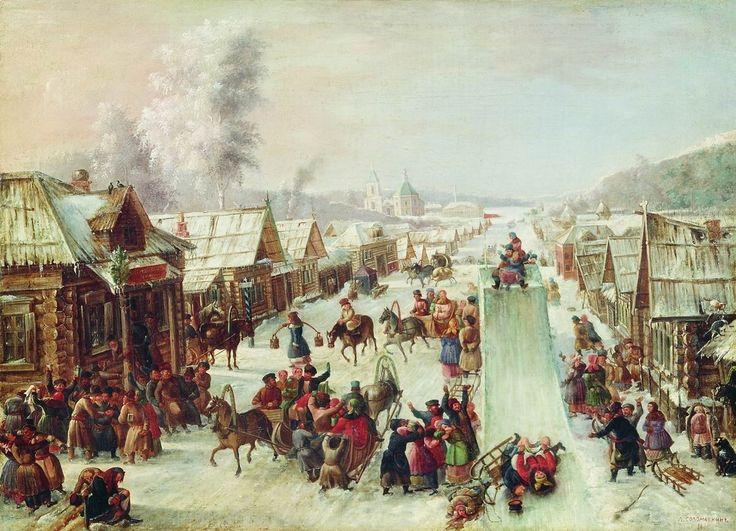 """Leonid I. Solomatkin, """"Maslenitsa"""" (1878)"""