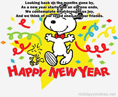 Funny snoopy happy new year card