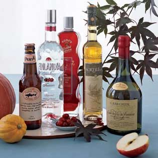 Infused Holiday Vodkas: Ginger Punch, Coffee, Apple Vanilla, Orange Ginger Holiday cocktail party from Every Day with Rachael Ray magazine.