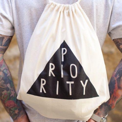 Batůžek s provazovými popruhy - Priority - Béžová