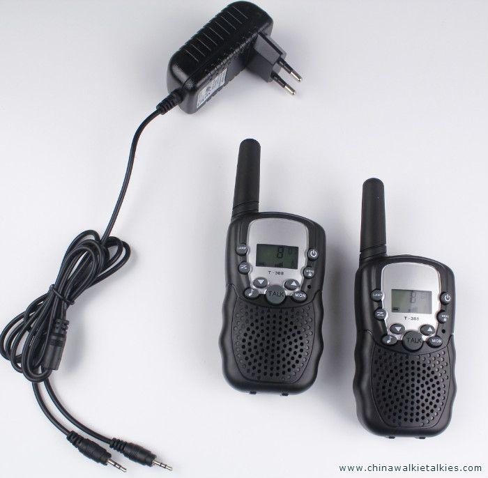 2pcs walkie talkies T388 PMR446 mobile radio communicator VOX FRS/GMRS talkie radios led flashlight + EU or US charger plug