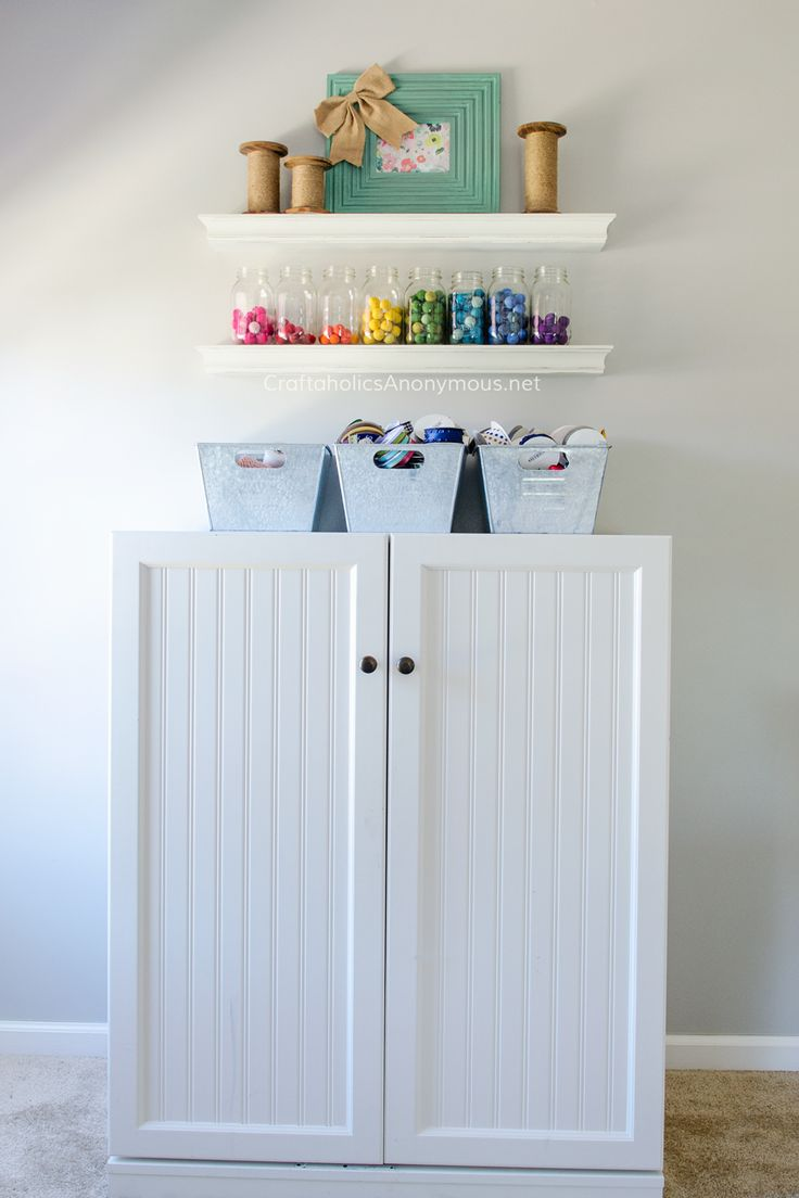 Craft room cabinets idea - Sewing Cabinet In The Most Amazing Craft Room Ever Lots Of Craft Room Storage Ideas
